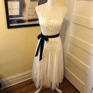 JS Collections Sz 8 Ivory Ballerina Evening Dress